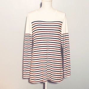 3/$30-EXPRESS-The Perfect Striped Tee. Size Large.